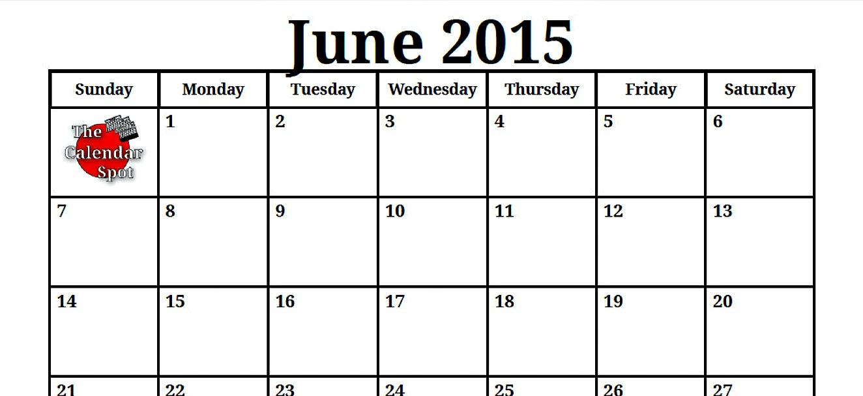 Calendar Pdf June : Best images of blank june calendar printable