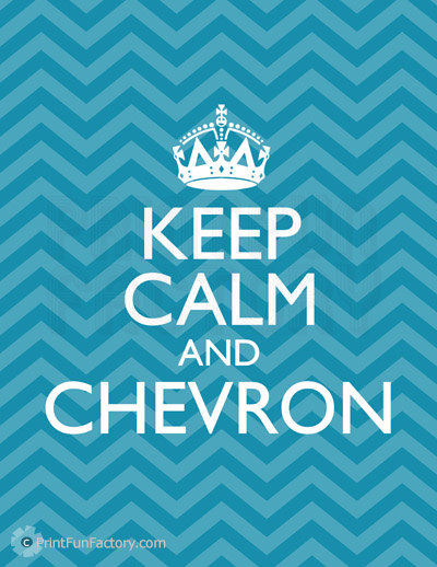 6 Images of Chevron Keep Calm Printable