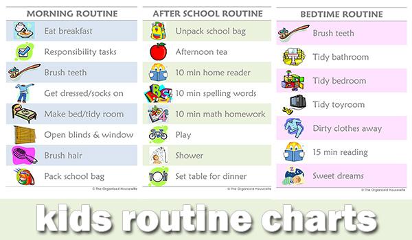8 best images of school schedule charts printable