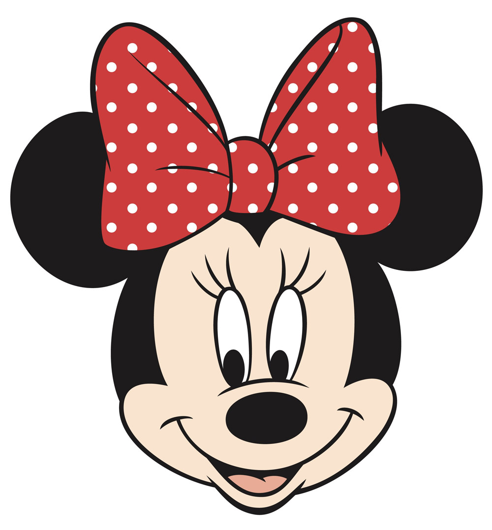 6 Images of Minnie Mouse Face Printable