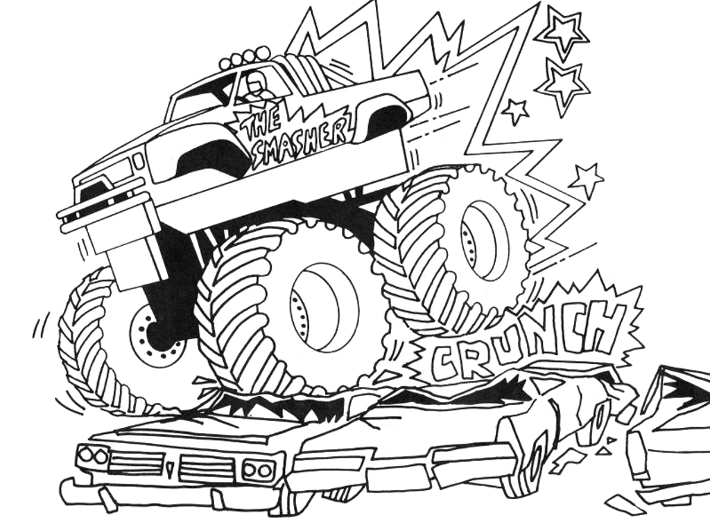 8 Images of Grave Digger Coloring Pages Printable