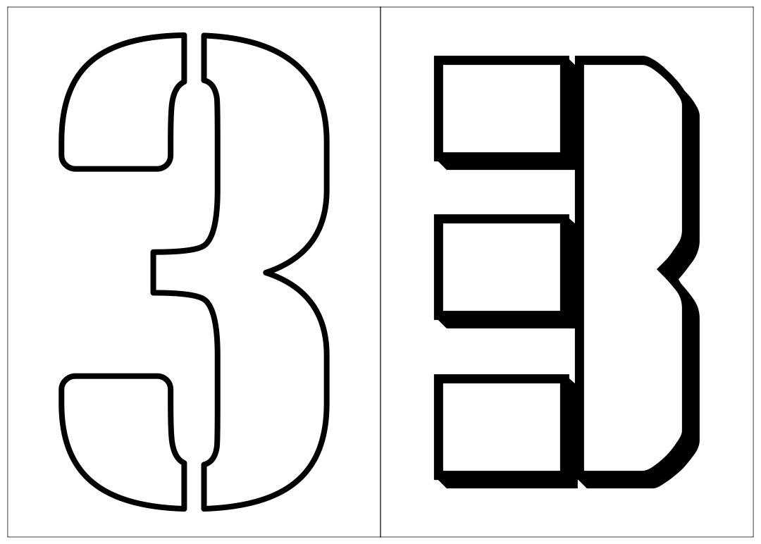 7 Images of Printable Full Page Numbers