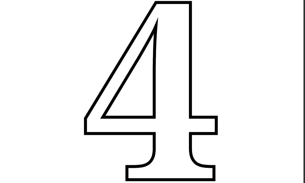 5 Images of Free Printable Number 4