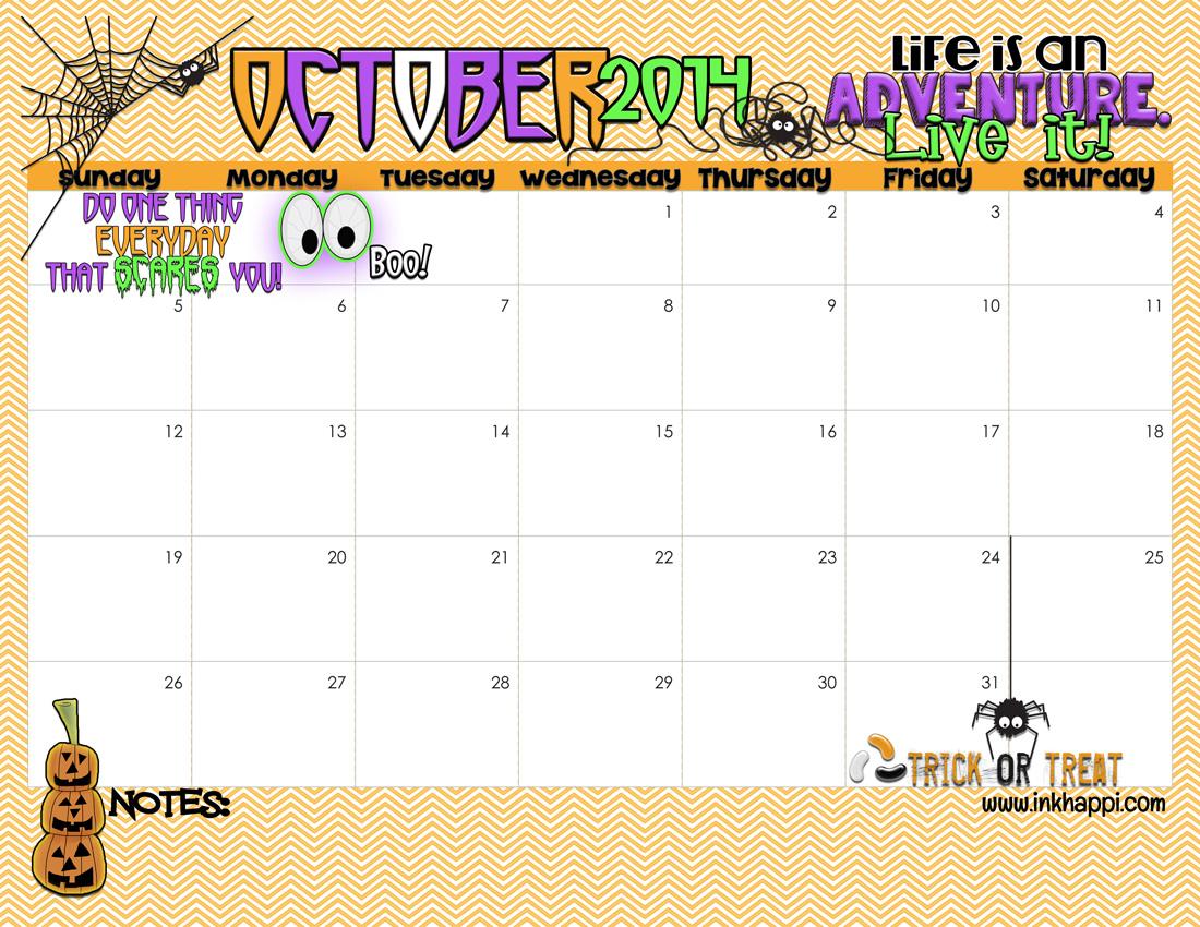 7 Best Images of Cute Halloween Free Printable 2015 - October Halloween Calendar