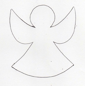 Angel Patterns - Printable Angel Template, Stained Glass Angel Pattern ...