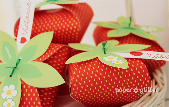 8 Images of Red Strawberry Printables