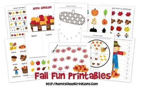 8 Images of Kindergarten Printable Learning Packs