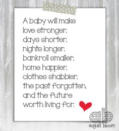 Printable Baby Shower Poems