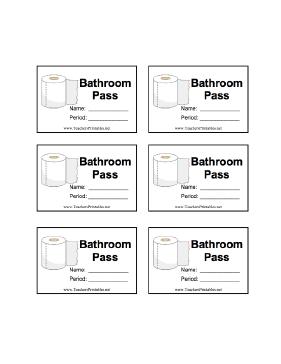 hall passes templates