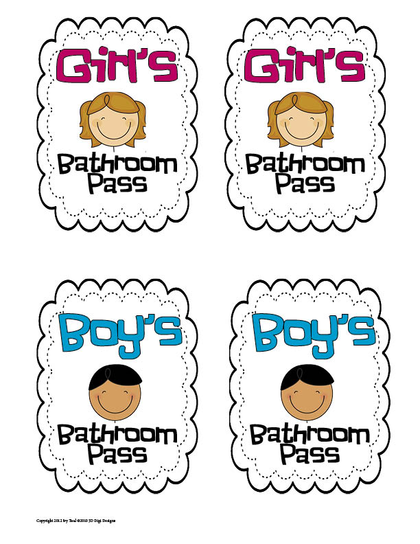 7 Best Images Of Printable For Bathroom Passes Students Bathroom Pass Template Printable