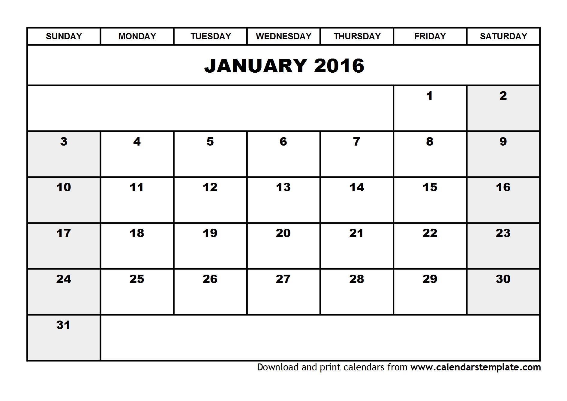 January Calendar 2009 : Best images of calendar january printable free