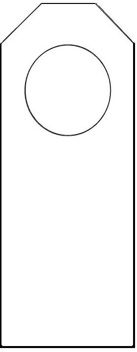 7 best images of free printable door hanger pattern free door hanger template door knob. Black Bedroom Furniture Sets. Home Design Ideas