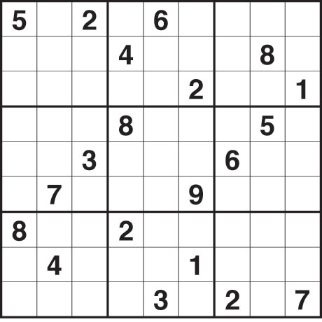 Sudoku very difficult  ensudokuonlinenet