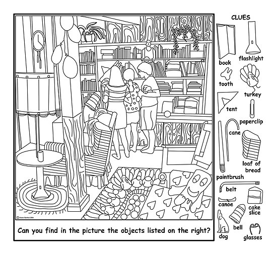 4 best images of printable hidden object games for adults for Find the hidden objects coloring pages