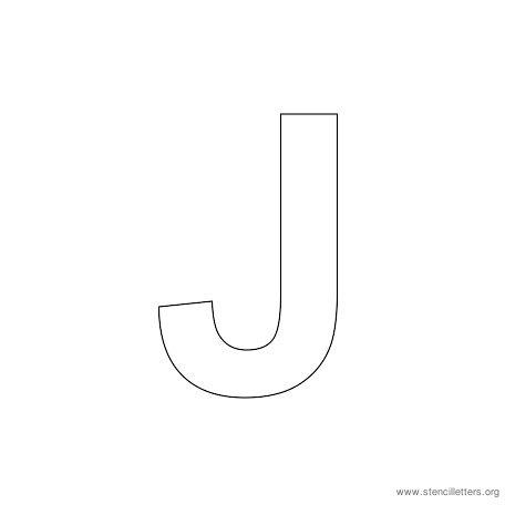 6 Images of Printable Letter Stencil J