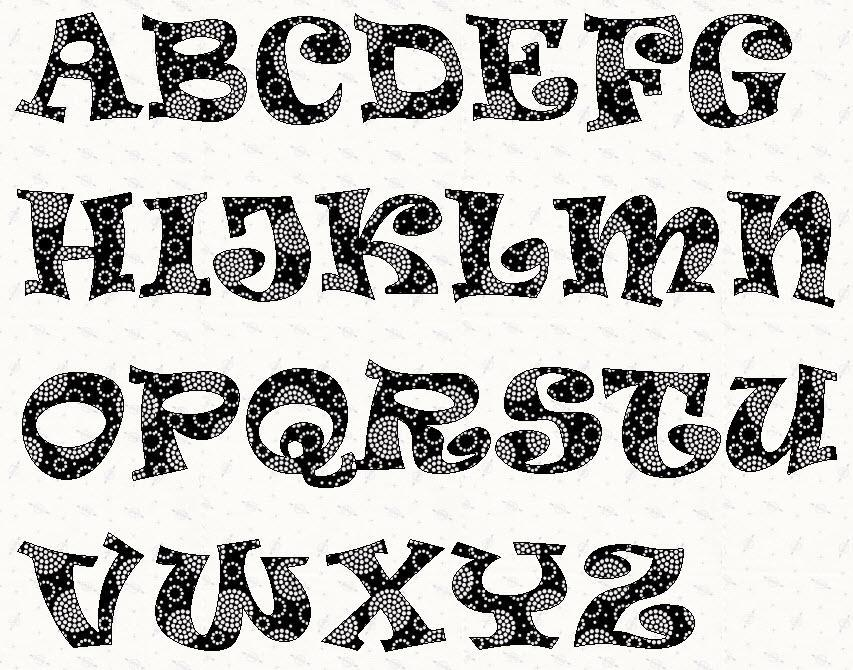 7 Images of Printable Alphabet Patterns
