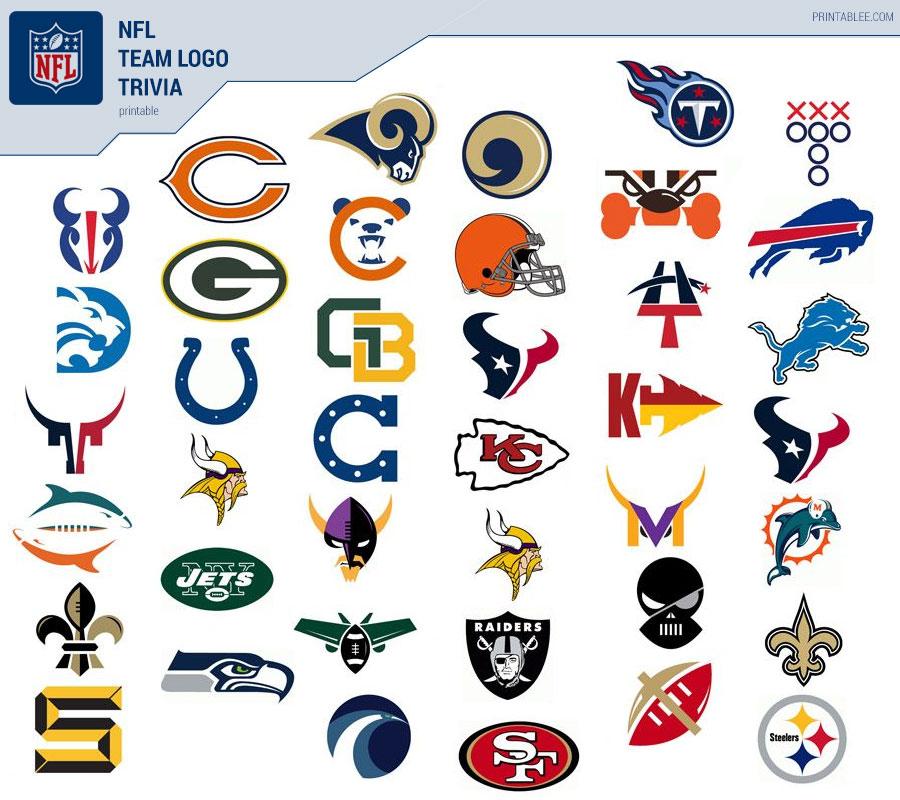 Printable NFL team logo trivia game
