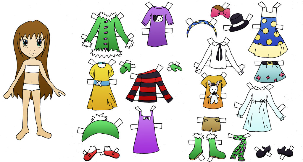 4 Images of Free Printable Paper Doll Clothes Templates