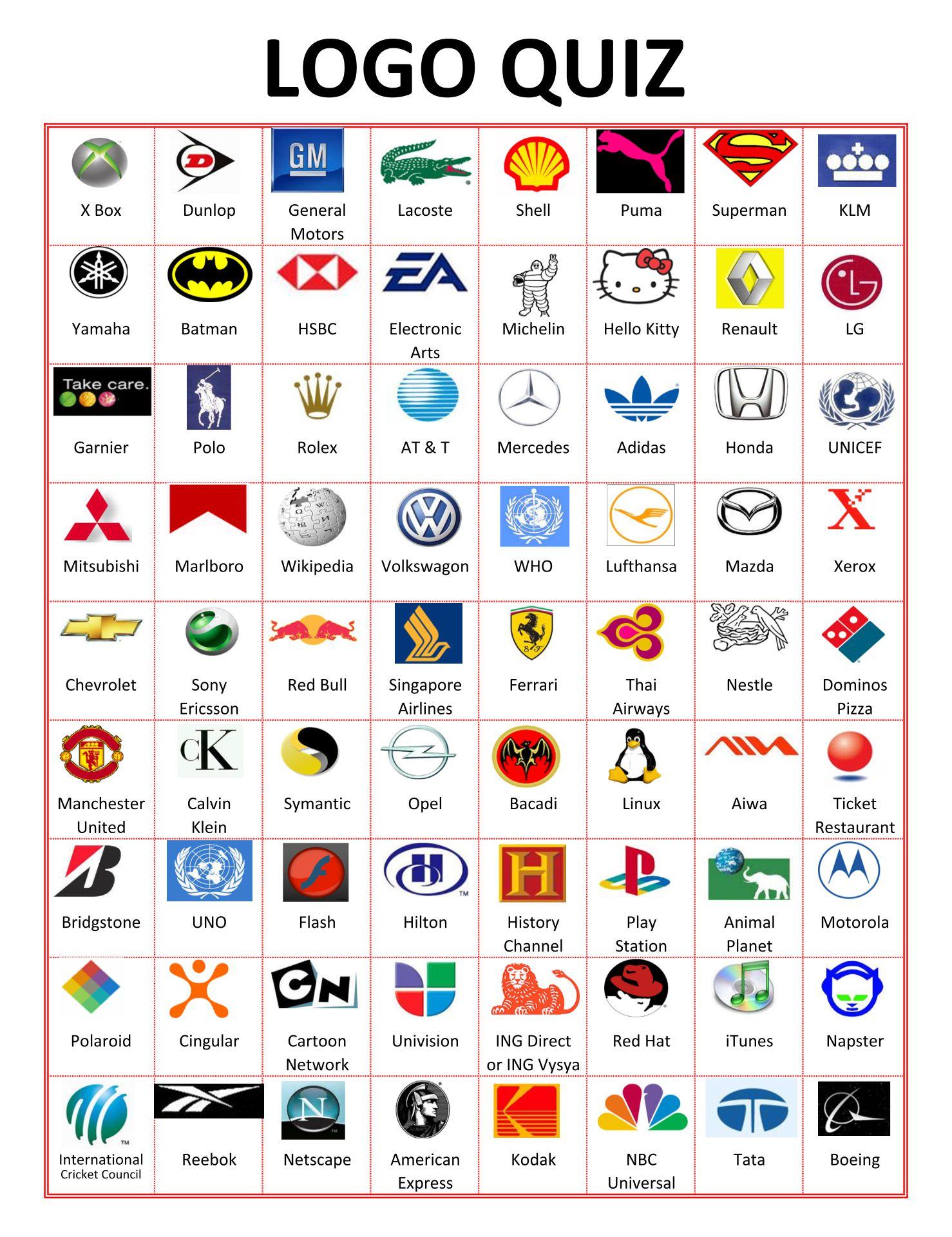 Printable Quiz Company Logo