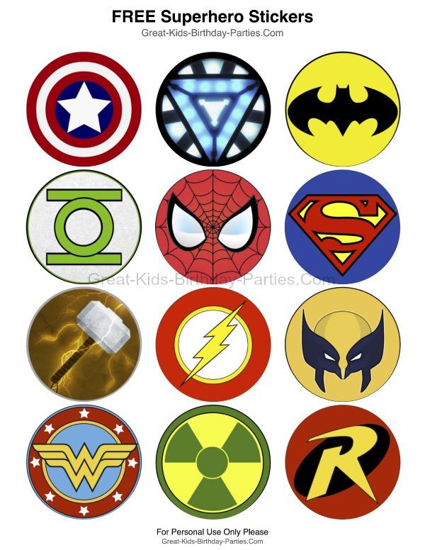 6 Images of Free Printable Superhero Logo Templates