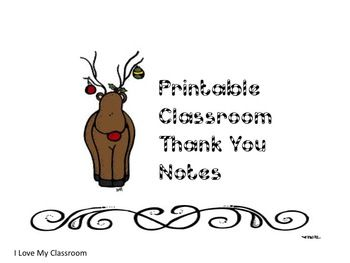 7 Images of Free Printable Thank You Notes For The Classroom