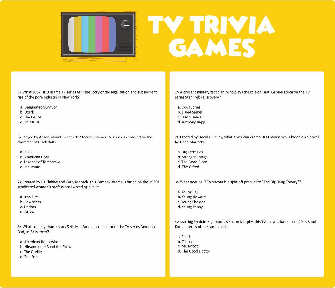 Printable Trivia Games for Seniors