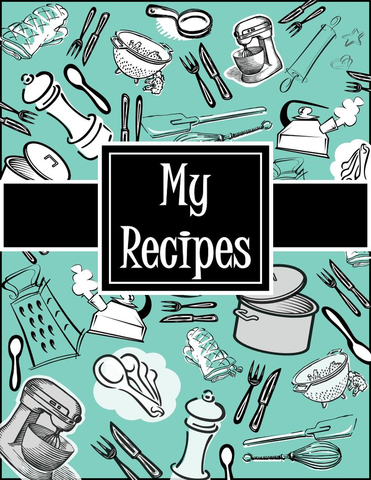 Cookbook Covers Printable Free : Best images of recipe cookbook cover printables