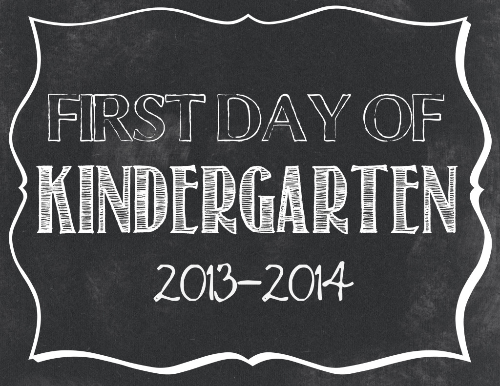 8 Images of Chalkboard Printables For Kindergarten