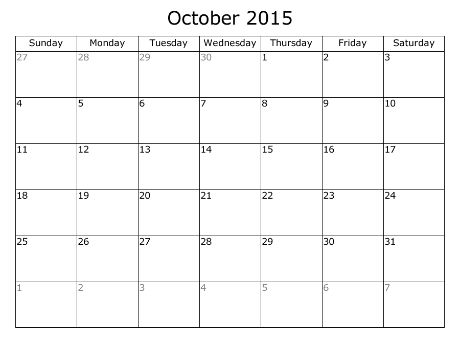8 Images of Free Printable Planners October And November 2015 2016