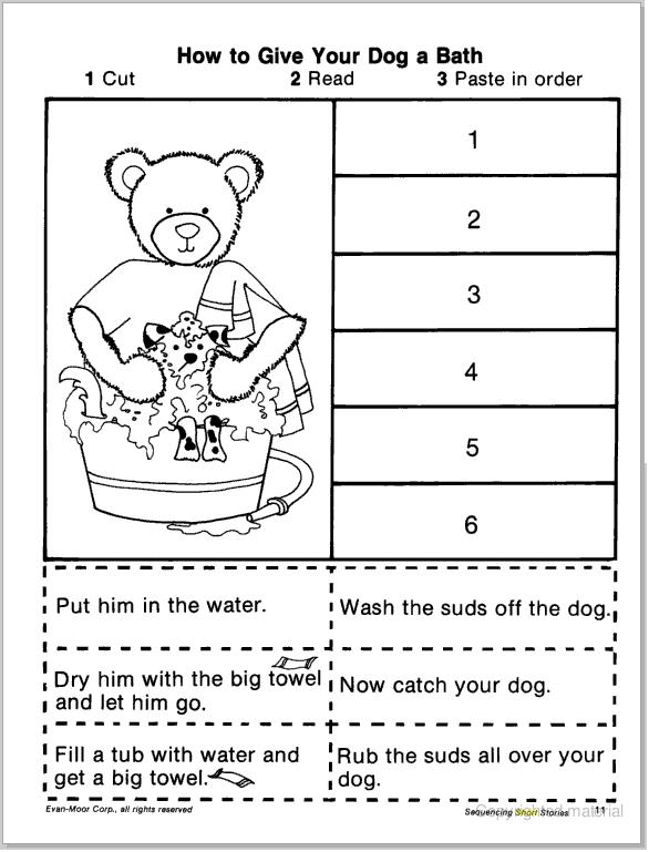 math worksheet : 6 best images of worksheets story sequencing printable  story  : Sequence Worksheets For Kindergarten