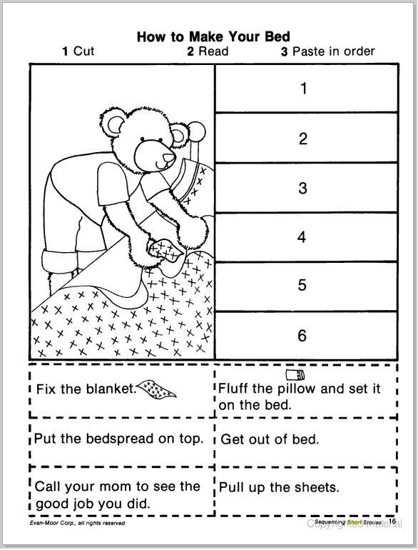 Number Names Worksheets kindergarten sequencing worksheet : Kindergarten Sequence Worksheets - kindergarten picture sequencing ...