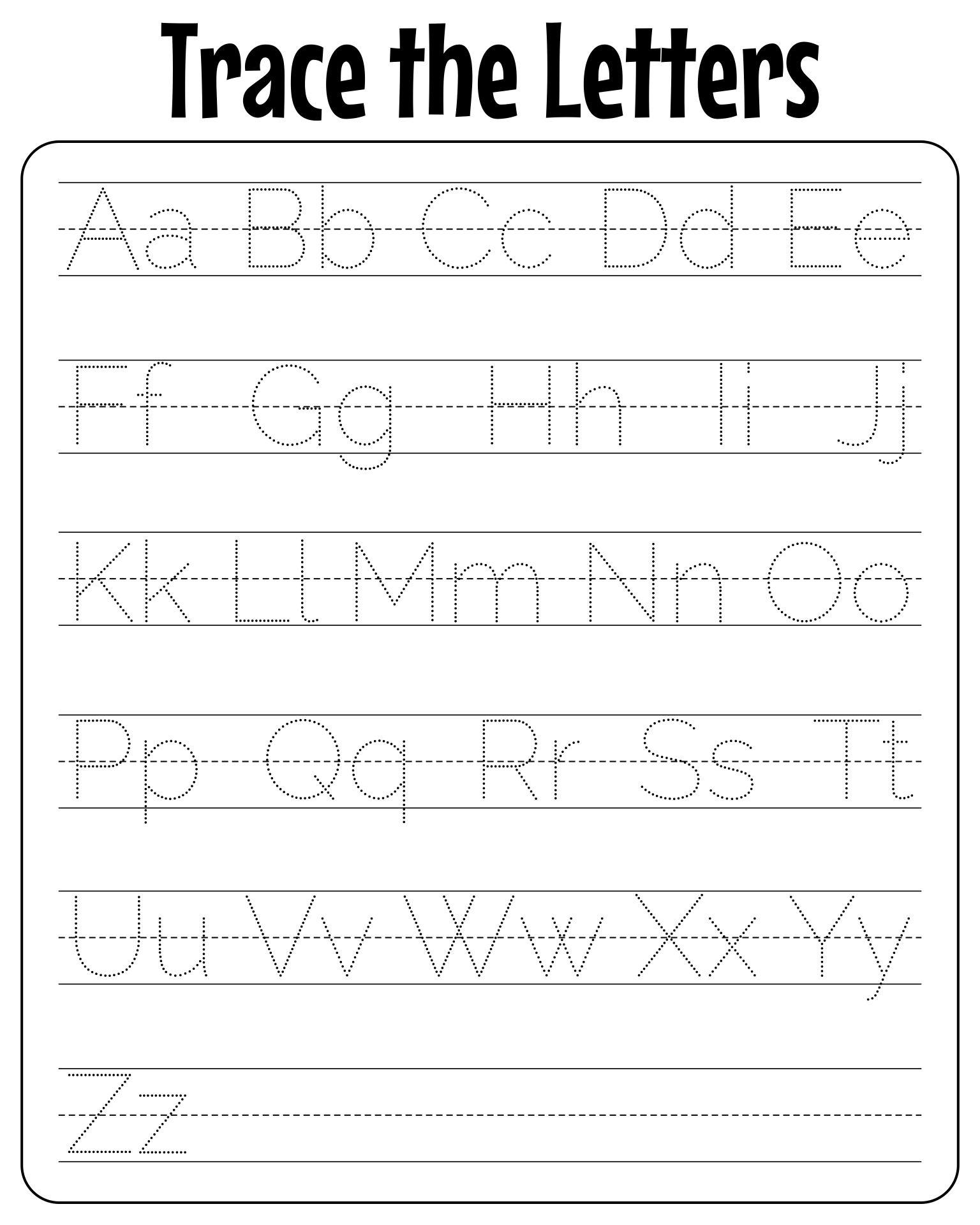 Worksheets Preschool Alphabet Worksheets A-z free traceable alphabet worksheets a z intrepidpath 8 best images of printable worksheets