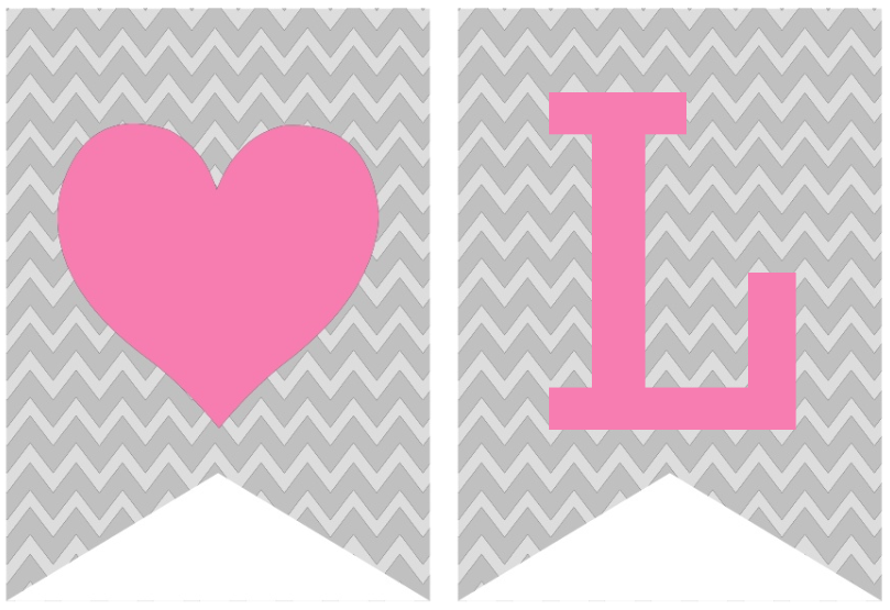 4 Images of I Love You Banner Printable