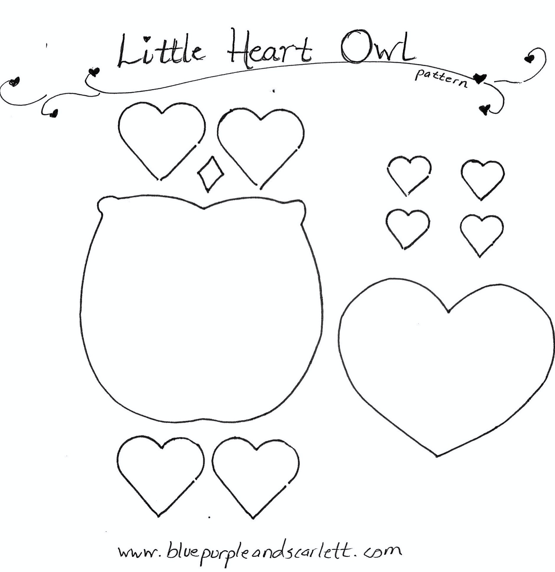 Valentine Owl Craft Pattern