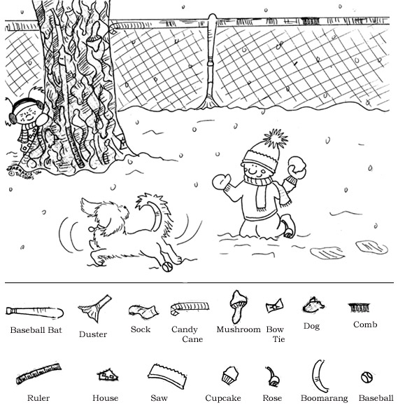 ... Object Printable Worksheets and Winter Printable Hidden Object Puzzles