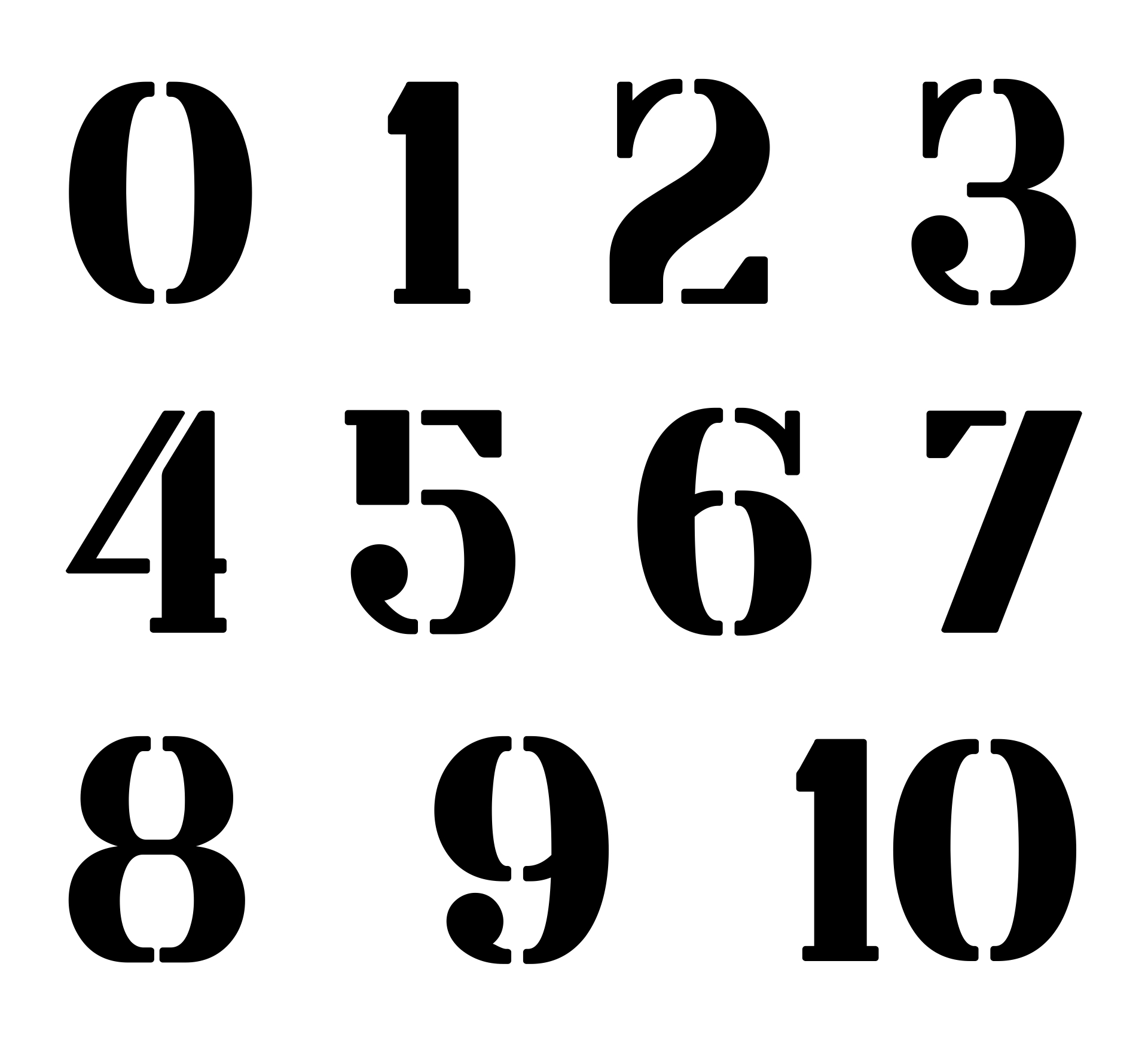 10 Images of 3 Inch Stencils Numbers Printable