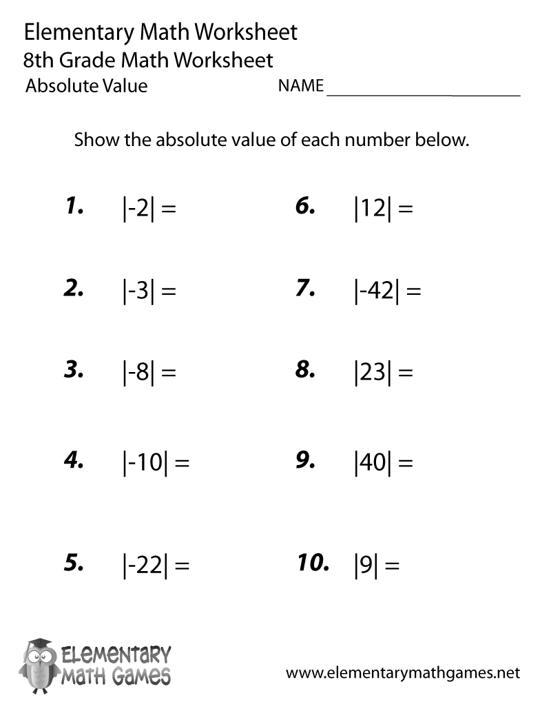 math worksheet : 8 best images of 8th grade printable worksheets  8th grade math  : Math Worksheets Grade 8 Printable
