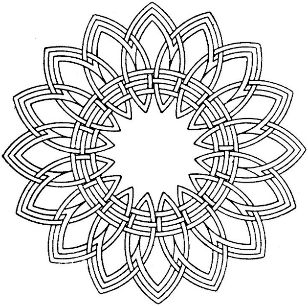 7 Images of Geometric Shapes Printable Coloring Pages Adult