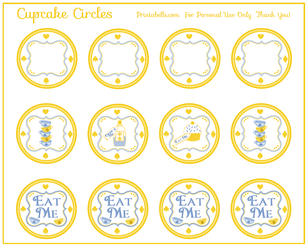 6 Images of Alice In Wonderland Party Printables
