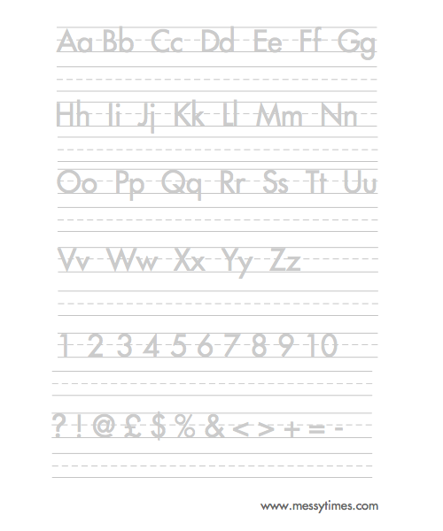 Alphabet Handwriting Worksheets Free Printables - Intrepidpath