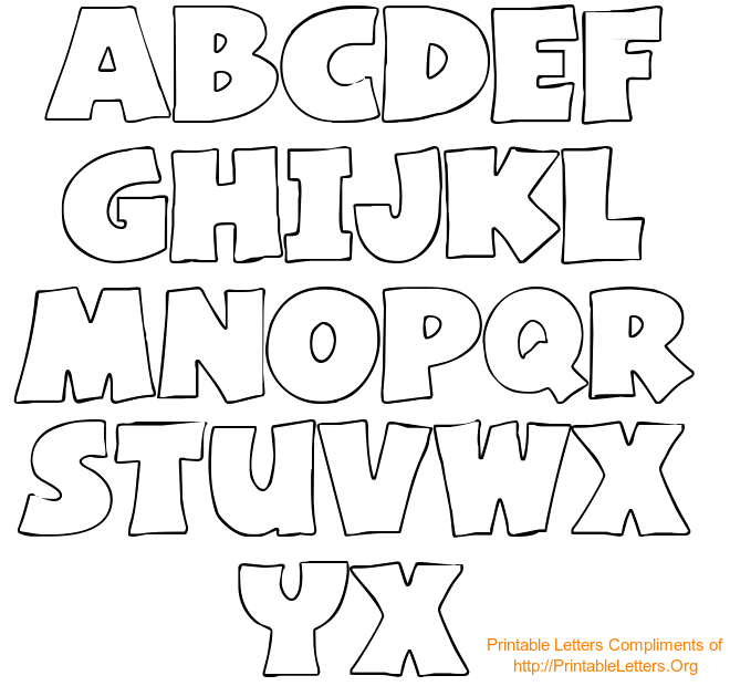 4 Images of Printable Alphabet Letters Stencils To Trace
