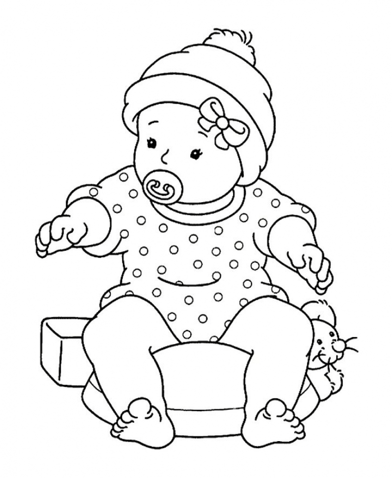 4 Images of Printable Baby Coloring Pages