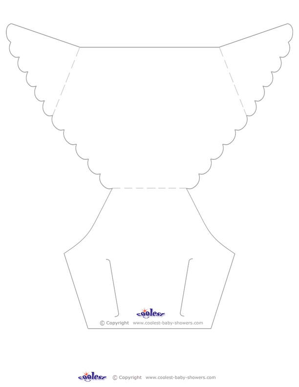 5 Images of Printable Baby Diaper Template