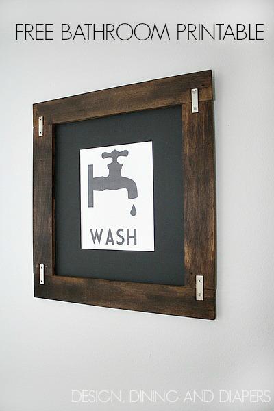 6 Images of Free Vintage Printable Art Bathroom
