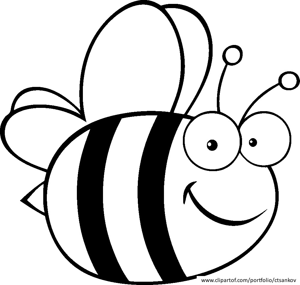 7 Images of Honey Bee Printable Coloring Page