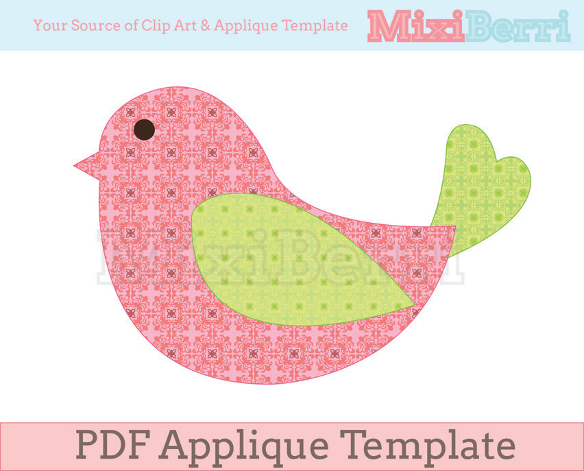8 Images of Bird Applique Quilt Patterns Free Printable