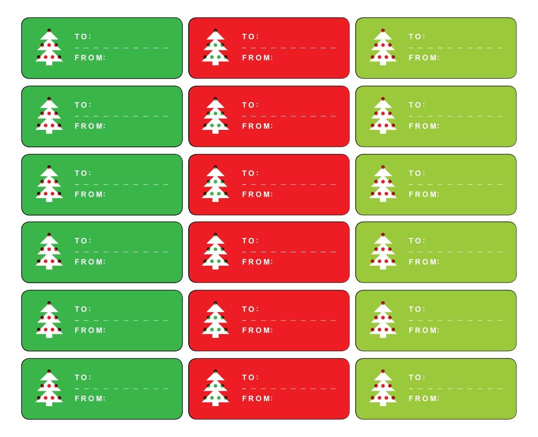 Blank Christmas Gift Tag Template
