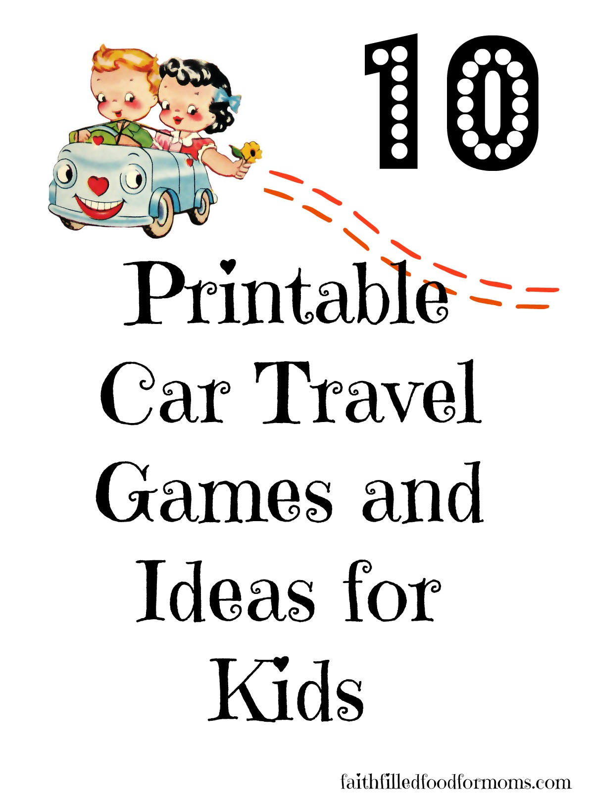 Car Travel Games for Kids Printable