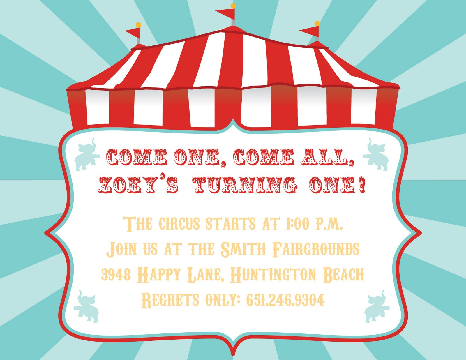 4 Images of Free Circus Printable Invitation Templates