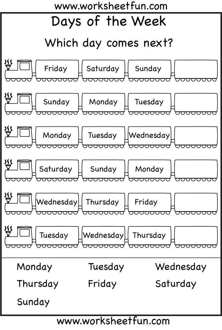 Order Days Of The Week Worksheets Ks1 - spelling days of ...